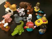 Lot Fisher Price Little People 15 Figures Disney Princess Animals And Car