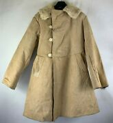 Russian Military Officers Suede Trench Coat Menand039s Size Medium
