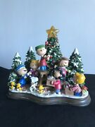 """Danbury Mint Peanuts Charlie Brown """"christmas Time Is Here Lighted Sculpture"""