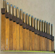 Antique 18 Wood Organ Pipes Flutes 1800's Architectural Salvage