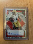 2021 Leaf Flash - Jaand039marr Chase - Red Refractor Xrc Rookie Auto And039d 1/5 Bengals