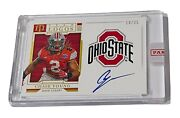 2020 National Treasures Chase Young Ohio State Team Logos Rookie Rc Auto /25