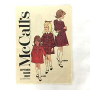 Vtg Mccall's September Fashion Digest And Fabric News 1966 Polly's Fabric Shop