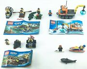 Lego City Lot Of 4 Complete Sets 60066 60065 60033 60011 W/ Instructions