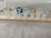 Vintage Angel Ornaments Spun Glass Set Of 7 Delicate Lightweight Wing Colors