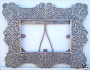 Vintage Antique Solid Silver Photo Frame Handmade India