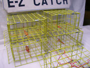 5 Pack Usa E-z Catch Weekender Kid's Series Crabbing Traps Pvc Yellow Four Door