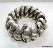 Rare Antique Collectible Ethnic Tribal Old Silver Huge Anklet Bracelet India