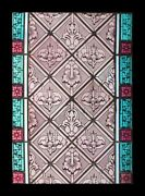 Rare Fabulous Painted English Antique Victorian Stained Glass Window