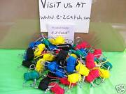 50 Pieces E-z Catch Lets Go Crabbing Lead Free Throw Hand Line's Mixed Color's