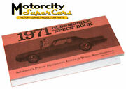 1971 Oldsmobile Cutlass 442 W30 Salesmenand039s Guide Book
