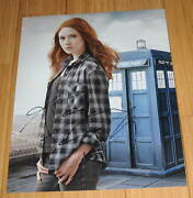 Karen Gillan Signed 11x14 Dr. Who Amy Pond Guardians Of The Galaxy W/proof