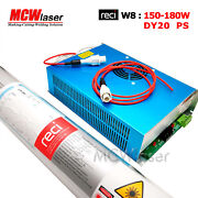 Reci 150w Peak 180w Co2 Laser Tube W8 And Power Supply Dy20 220v Cutter Engraver
