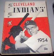 1954 Cleveland Indians Sketch Book / Year Book Yearbook