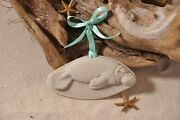 Manatee Made With Sand Tropical Beach Ornament