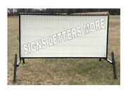 New Outdoor Portable Lighted Business Sign W/ 8 Letters 4and039 X 8and039 Message Area