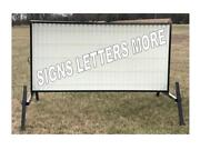 New Outdoor Portable Lighted Business Sign W/ 8 Letters 4' X 8' Message Area