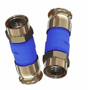 New 1000pieces Snap And Seal Directv Blue Rg-6 Coaxial 21mm Compression Connectors