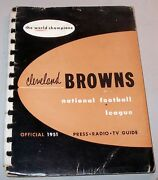 1951 Cleveland Browns Press Book / Media Guide