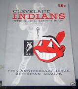 1951 Cleveland Indians Sketch Book / Year Book Yearbook
