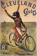Cleveland Cycles Bicycle Indian Chase Horse Bike Vintage Poster Repro