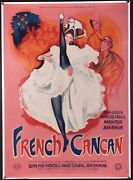 French Cancan 1955 French Film Poster Linen-backed Jean Renoir Film Art Gallery