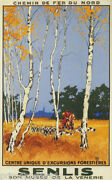 French Hunting Dogs Horse Senlis Forest Museum VÉnerie Hunt Vintage Poster Repro