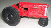 Vntg Diecast Hubley Jr Farm Tractor-nice Wheels And Paint