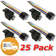 12v 30 40a Spdt Bosch Style Automotive Relays And 5 Wire Socket Harness 25/pack