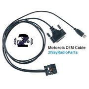 Oem Motorola Mototrbo Xpr8300 Xpr8400 Rear Programming And Service Cable Pmkn4016a