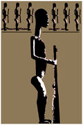 2117.african Religion Icons With Weapons Poster.political.room Home Interior Art