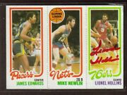 Lionel Hollins 1980-81 Topps 182 76ers Trailblazers Pistons Signed Card Auto M7