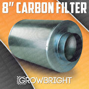 8 Carbon Air Filter Scrubber Odor Control Inline Activated Coal Hydroponic Can