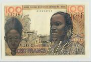 🔴west African States Burkina Faso 100 Francs Sign. 4 Nd 2-3-1965 Unc P-301cf