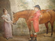 Listed George Goodwin Kilburne Rba English Hunt People Horse Watercolor Painting