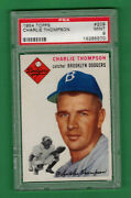 1954 Topps Charlie Thompson 209 Psa 9 Mint Dodgers Pop 16 No 10and039s
