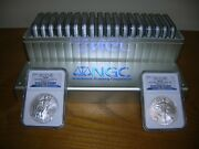 2010 Silver Eagles 20 Coin Ngc Ms69 Box 1 To 20 Set