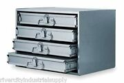 Metal 24 Hole Storage Tray / Cabinet And Slide Rack
