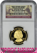 2010 Abigail Fillmore 10 Ngc Pf 70 First Spouse Proof Gold Coin Graded Perfect