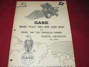 Case Tractor F34-4 Two Row Corn Head Parts Manual