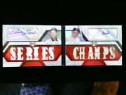 2007 Topps Triple Threads Yogi Berra And Whitey Ford Autograph Jersey Relic Mint