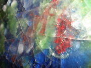WAYLANDE GREGORY POTTERY MODERN ABSTRACT MID CENTURY SCULPTURE FUSED GLASS TILE