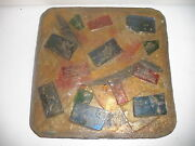 WAYLANDE GREGORY POTTERY MODERN ABSTRACT MID CENTURY EAMES SCULPTURE GLASS TILE