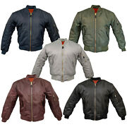 Ma1 Flight Bomber Jacket Combat Army Military Air Force Us Pilot Skin Mod Padded