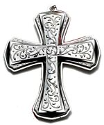 New 2012 Towle 20th Annual Sterling Silver Cross Xmas Ornament Pendant Medallion