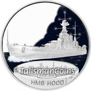 Tuvalu 2007 Fighting Ships Of Wwii Battleship Hms Hood 1 Pure Silver Proof