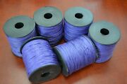 6 Rolls - 600 Meters Purple Waxed Cotton Beading Cord String 1mm F-51h