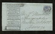 Gb Qv Advertising Wrapper 1886...letter Sealing Wax + Stationery...1/2d Slate