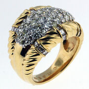 18kt Yellow Gold Diamond Cluster Ring