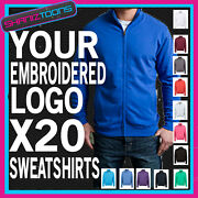 Workwear Business Company Zipped Sweatshirt Embroidered Full Colour Logo X20